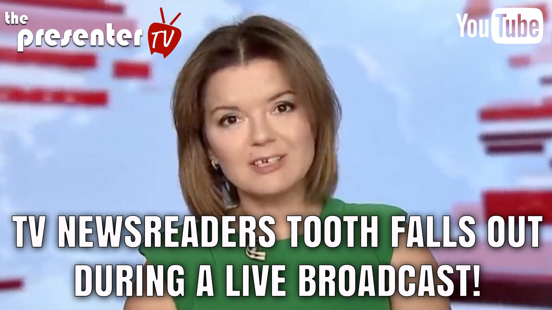 News Reader loses her front tooth during a live broadcast!